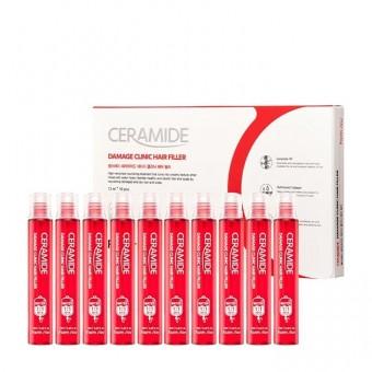 Farm Stay Ceramide Damage Clinic Hair Filler - Набор восстанавливающих филлеров для поврежденных волос с керамидами