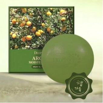 Deoproce Argan Moisture Soap - Мыло для лица с натуральным аргановым маслом