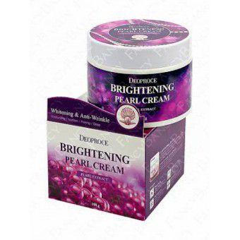Deoproce Moisture Brightening Pearl Cream - Увлажняющий крем с экстрактом жемчуга для сияния кожи лица