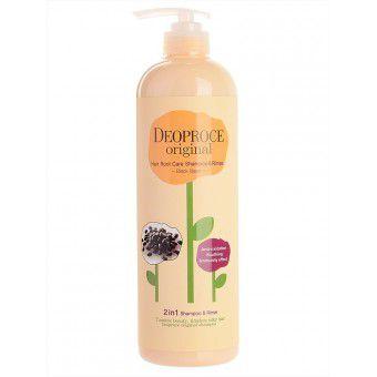 Deoproce Original Hair Root Care 2 in 1 Shampoo Black Bean - Шампунь-бальзам уход за корнями волос с черными бобами