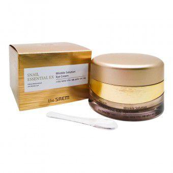 The Saem Snail Essential EX Wrinkle Solution Eye Cream - Анивозрастной крем для кожи вокруг глаз с фильтратом улиточной слизи