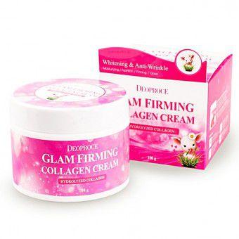 Deoproce Moisture Glam Firming Collagen Cream - Подтягивающий крем для лица на основе свиного коллагена