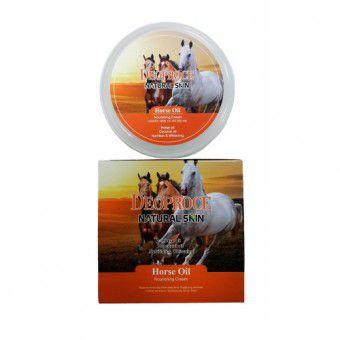 Deoproce Natural Skin Horse Oil Nourishing Cream - Питательный крем с лошадиным жиром и маслом кокоса