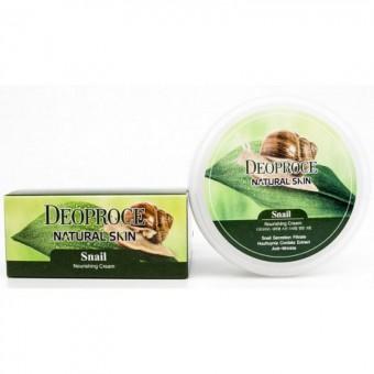 Deoproce Natural Skin Snail Nourishing Cream - Крем для лица и тела с улиточным экстрактом