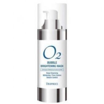 Deoproce O2 Bubble Brightening Mask - Осветляющая кислородная маска для глубокого очищения лица