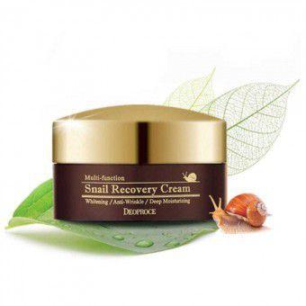 Deoproce Snail Recovery Cream - Восстанавливающий крем для лица с фильтратом слизи улитки