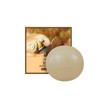 Deoproce Snail Recovery Soap - Очищающее мыло для лица с 90% экстрактом секреции улитки