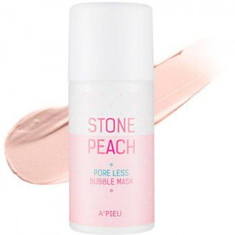 A'pieu Stone Peach Pore Less Bubble Mask - Кислородная маска для очищения и сужения пор
