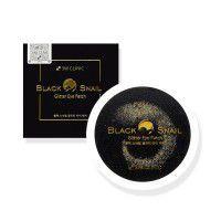 Black Snail Glitter Eye Patch - Гидрогелевые патчи с муцином черной улитки