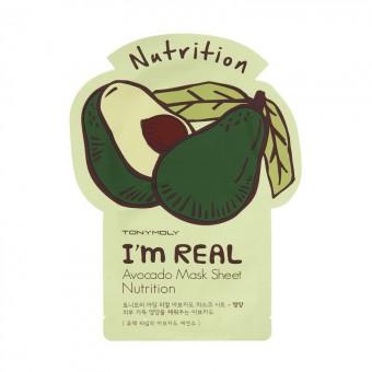 TonyMoly I'm Real Avocado Mask Sheet - Маска авокадо смягчающая