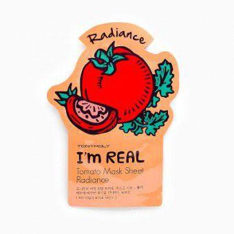 TonyMoly I'm Real Tomato Mask Sheet - Маска томатная для гладкости кожи