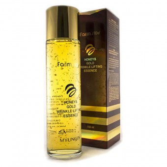 Farm Stay Honey & Gold Wrinkle Lifting Essence - Эссенция с экстрактом мёда и золотом
