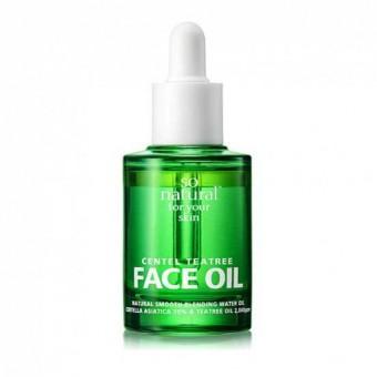 So Natural Centel Teatree Face Oil - Масло для лица с центеллой и чайным деревом