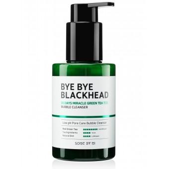 Some By Mi Bye Bye Blackhead 30 Days Miracle Green Tea Tox Bubble Cleanser - Пенка-маска от черных точек