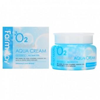 Farm Stay O2 Premium Aqua Cream - Крем увлажняющий с кислородом и пептидами