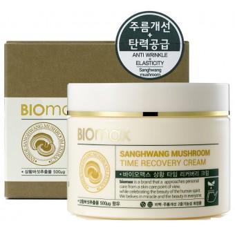 Biomax Sanghwang Mushroom Time Recovery Cream - Крем антивозрастной с экстрактом гриба санхван