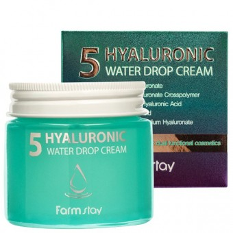 Farm Stay Hyaluronic 5 Water Drop Cream - Крем с 5 видами гиалуроновой кислоты