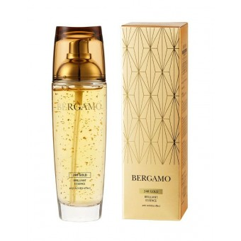 Bergamo 24K Gold Brilliant Essence - Эссенция антивозрастная с золотом