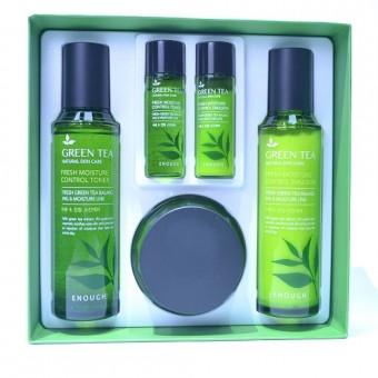 Enough Green Tea Fresh Moisture Control 3 Set - Набор для лица с зеленым чаем