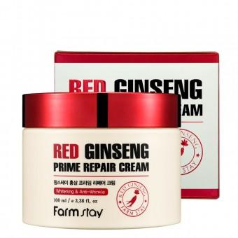 Farm Stay Red Ginseng Prime Repair Cream - Крем восстанавливающий с экстрактом красного женьшеня