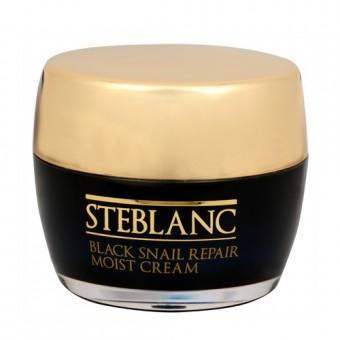 Steblanc Black Snail Repair Moist Cream - Увлажняющий крем для лица с муцином Черной улитки