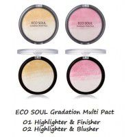 Eco Soul Gradation Multi Pact 02 Highlighter&Blusher - Пудра-хайлайтер-румяна