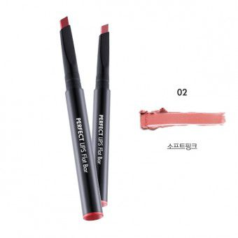 TonyMoly Perfect Lips Flat Bar 02 Soft Pink - Карандаш-помада