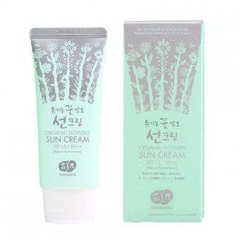 Whamisa Organic Flowers Sun Cream - SPF 14 / PA++ (Natural Fermentation) - Солнцезащитный крем на основе цветочных ферментов SPF 14 / PA++