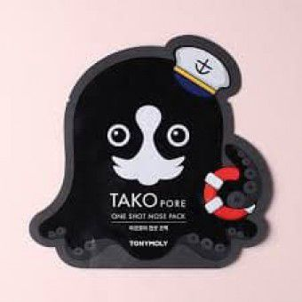 TonyMoly Tako Pore One Shot Nose Pack -  Маска - пластырь от черных точек