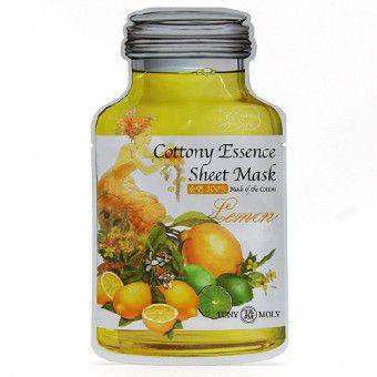 TonyMoly Cottony Essence Sheet Mask - Lemon - Маска для лица Лимонная