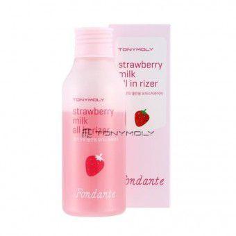 TonyMoly Fondante strawberry milk all in rizer - Увлажняющее двухфазное молочко