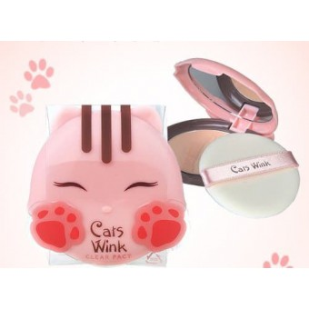 TonyMoly Cats Wink Clear Pact 01 - Пудра