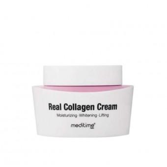 Meditime Real Collagen Cream - Крем антивозрастной с коллагеном