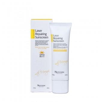Skindom Laser Repairing Sunscrean With Moringa - Солнцезащитный крем для лица с морингой