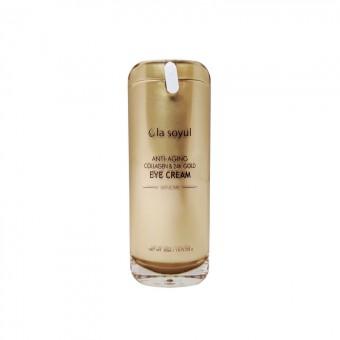La Soyul Anti-Aging Collagen & 24K Gold Eye Cream - Антивозрастной крем для кожи вокруг глаз с коллагеном и золотом