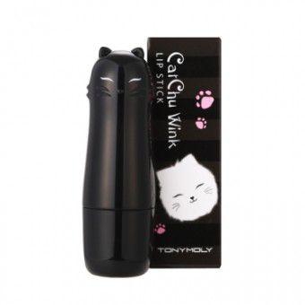 TonyMoly Cat Chu Wink Lip Stick 03 Pink Cat - Увлажняющая помада