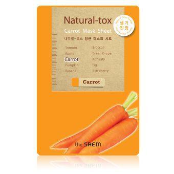 The Saem Natural – tox Carrot Mask Sheet - Маска - детокс
