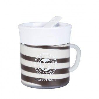 TonyMoly Latte Art Milk Cacao Pore Pack - Маска с какао и молоком для сужения пор