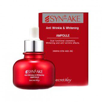 Secret Key Syn-Ake Anti Wrinkle & Whitening Ampoule - Антивозрастная сыворотка