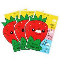 Homeless Strawberry Seeds 3-step Nose Pack