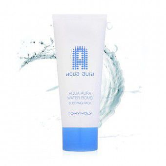 TonyMoly Aqua Aura Water Bomb Pack - Увлажняющая ночная маска