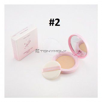 TonyMoly Luminous Baby Aura Pact 02 Nature Beige - Пудра, придающая сияние