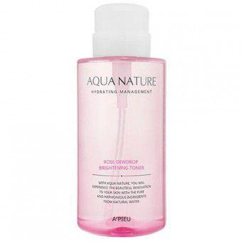 A'pieu Aqua Nature Rose Dewdrop Brightening Toner - Тоник с экстрактом розы для сияния кожи