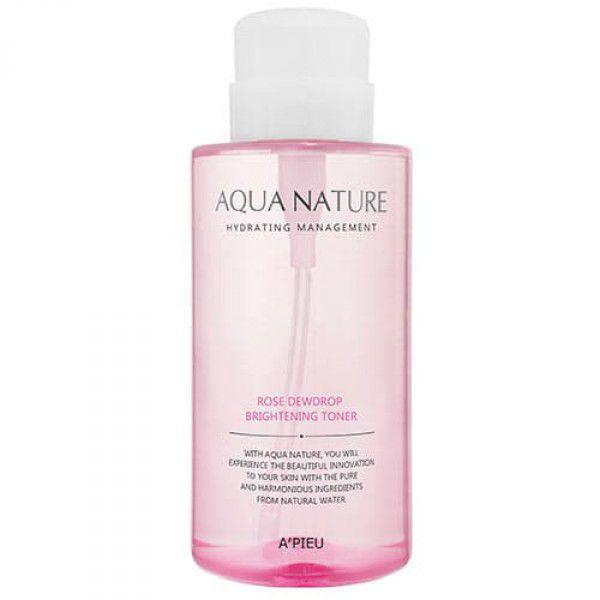 Aqua Nature Rose Dewdrop Brightening Toner - Тоник с экстрактом розы для сияния кожи