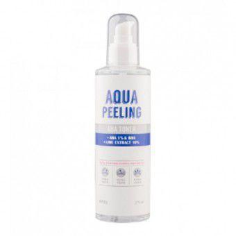 A'pieu Aqua Peeling AHA toner + AHA 1% & BHA + Lime extract 10% - Тонер для лица с AHA и BHA-кислотами и экстрактом лайма