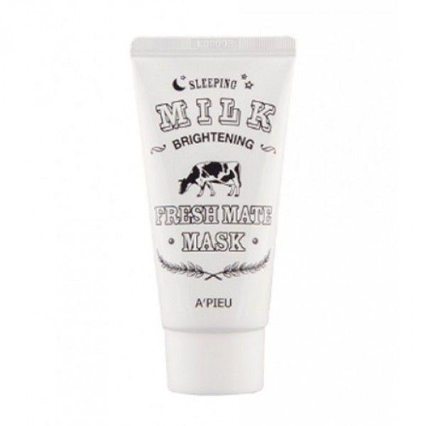 Купить Fresh Mate Mask (Brightening Milk Sleeping) - Ночная маска, выравнивающая тон кожи с молочными протеинами, A'pieu