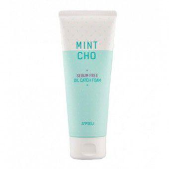 A'pieu Mint Cho Sebum Free Oil Catch Foam - Пенка для умывания для жирной кожи