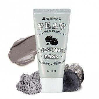 A'pieu Fresh Mate Mask (Pore Clearing Wash Off Peat) - Маска очищающая с экстрактом торфа и древесным углем