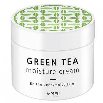 A'pieu Green Tea Moisture Cream - Увлажняющий крем для лица с экстрактом зеленого чая