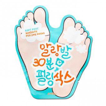 A'pieu Soft Foot 30 Minute Peeling Socks - Отшелушивающие пилинговые носочки с АНА и ВНА кислотами